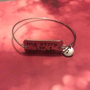 Jewelry - Silver Suicide Awareness Bracelet